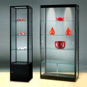 Glasvitrinen Mit Beleuchtung Alu Vitrinen Abschließbar Glas