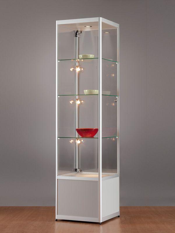 sv500a7huph1 vitrine mit unterschrank alu silber mit beleuchtung 789. Black Bedroom Furniture Sets. Home Design Ideas