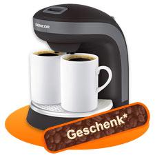 Vitrinen Aktion fuer Neukunden Kaffeemaschine