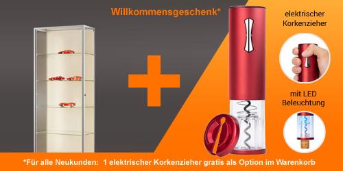 Vitrinenshop.de - Aktion für Neukunden: eine Kaffemaschine!