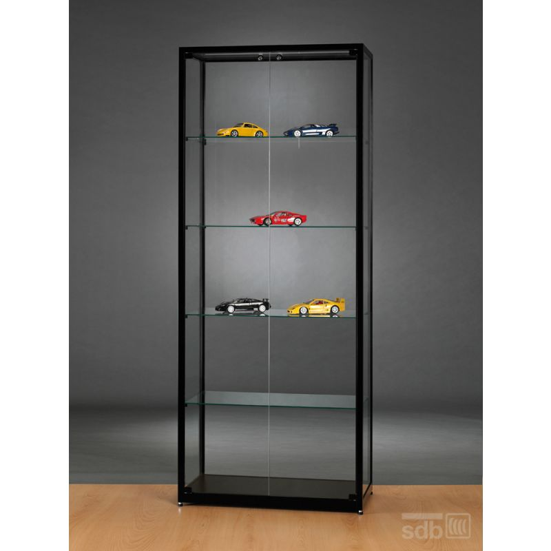 vitrine schwarz abschlie bar g nstig 80 cm vitrinenshop. Black Bedroom Furniture Sets. Home Design Ideas