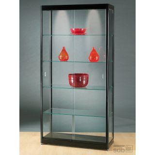vitrine schwarz abschlie bar glasvitrinen alu vitri. Black Bedroom Furniture Sets. Home Design Ideas