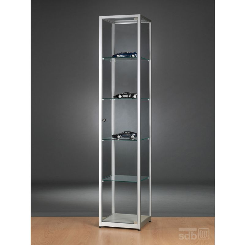 vitrine quadratisch 40 cm abschlie bar glasvitrinen alu vitrinen g nstig. Black Bedroom Furniture Sets. Home Design Ideas