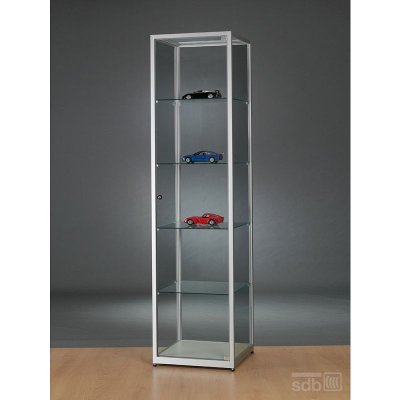 ausstellungsvitrine glas 50 cm breit glasvitrinen alu vitrinen g nstig. Black Bedroom Furniture Sets. Home Design Ideas