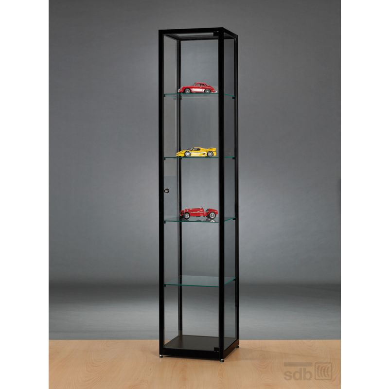 kleine vitrine schwarz 40 cm breit glasvitrinen alu vitrinen g nstig. Black Bedroom Furniture Sets. Home Design Ideas