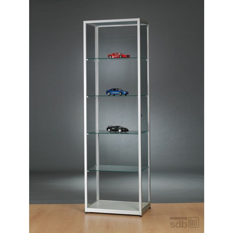 alu vitrine glas abschlie bar g nstig 60 cm glasvitrinen alu vitrinen g nstig. Black Bedroom Furniture Sets. Home Design Ideas
