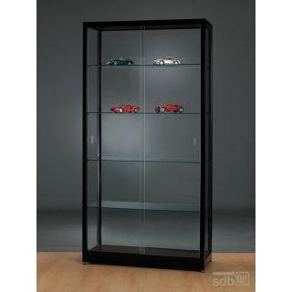 vitrine schwarz abschlie bar. Black Bedroom Furniture Sets. Home Design Ideas