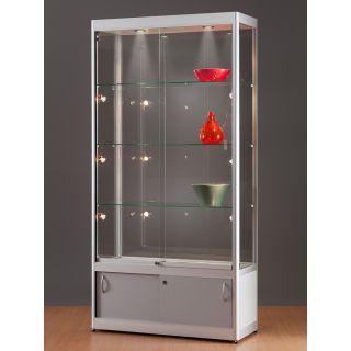 SV1200A7LUPL2 Vitrinenschrank Glasvitrine Vitrine mit Unterschrank Ausstellungsvitrine Beleuchtung abschließbar