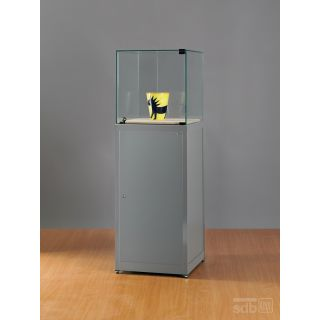 SM500A7K500 Museumsvitrine Glasvitrine Vitrine Alu Silber