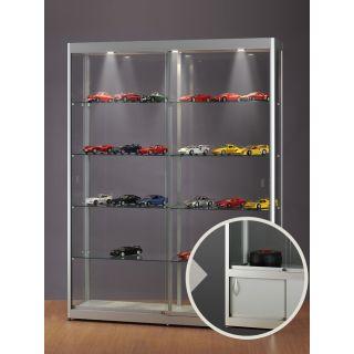SV1500A7LU Vitrinenschrank Glasvitrine Vitrine mit Unterschrank Ausstellungsvitrine Beleuchtung abschließbar