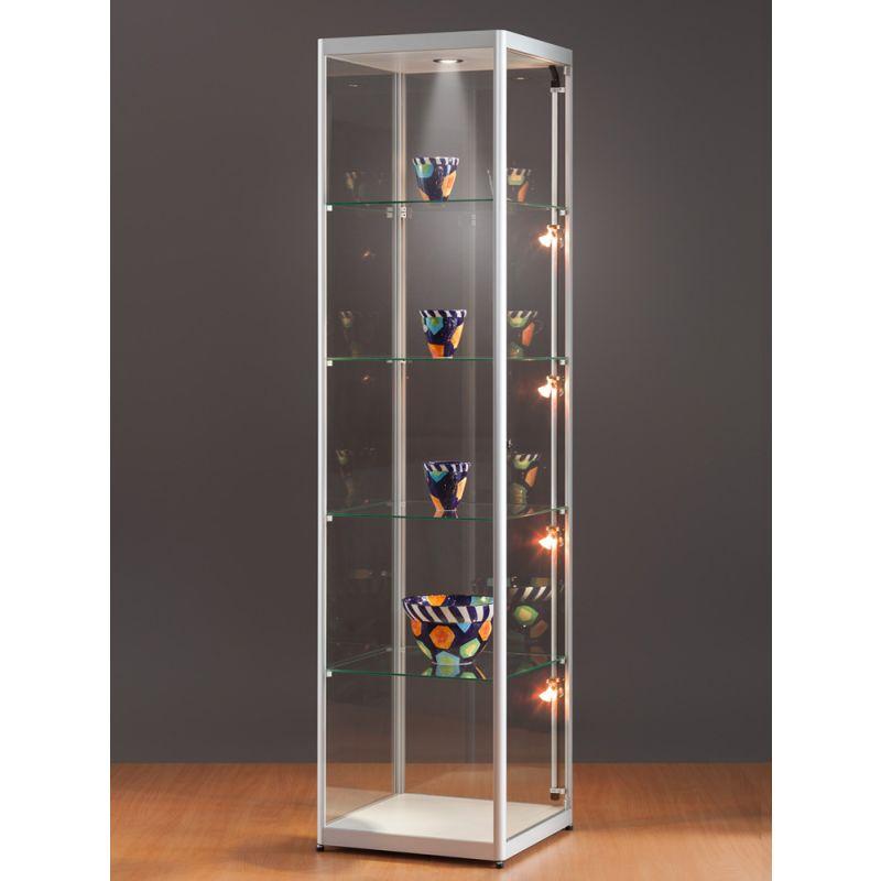 vitrine 50 cm breit vitrine mit beleuchtung vitrinenshop. Black Bedroom Furniture Sets. Home Design Ideas
