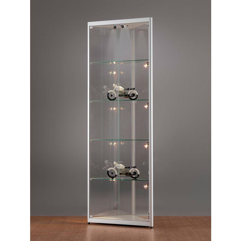 sv500a7heph1 eck vitrine alu silber mit beleuchtung. Black Bedroom Furniture Sets. Home Design Ideas
