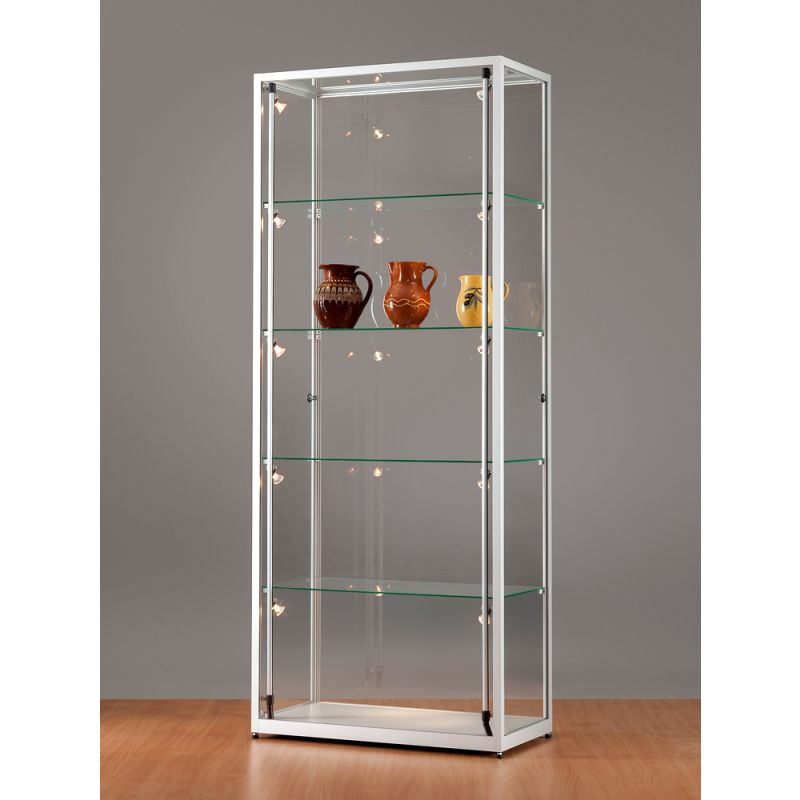 vitrine 80 cm breit komplett beleuchtet glasvitrinen alu vitrinen g nstig. Black Bedroom Furniture Sets. Home Design Ideas