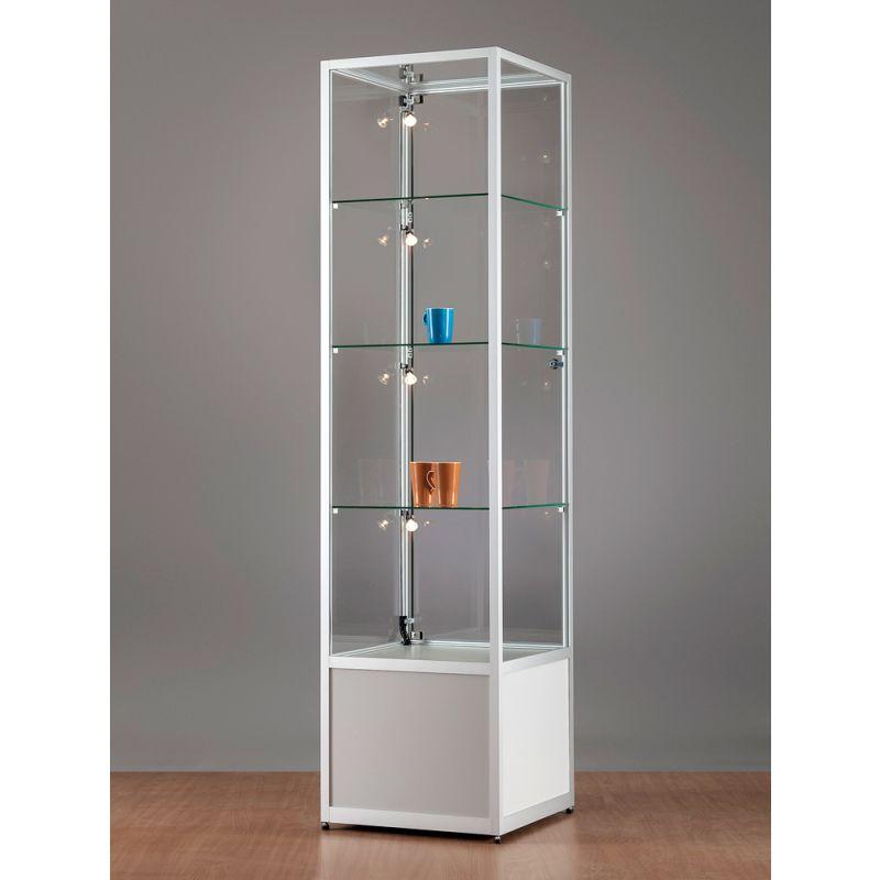 quadratischer vitrinenschrank glas 50 cm glasvitrinen alu vitrinen g nstig. Black Bedroom Furniture Sets. Home Design Ideas
