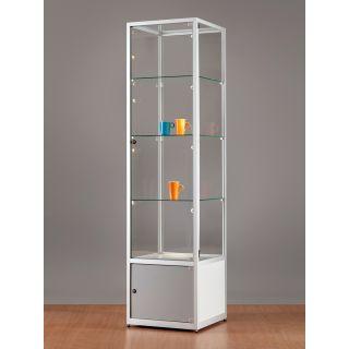 SV500A7UPL1 Vitrinenschrank Glasvitrine Vitrine mit Unterschrank Ausstellungsvitrine Beleuchtung abschließbar