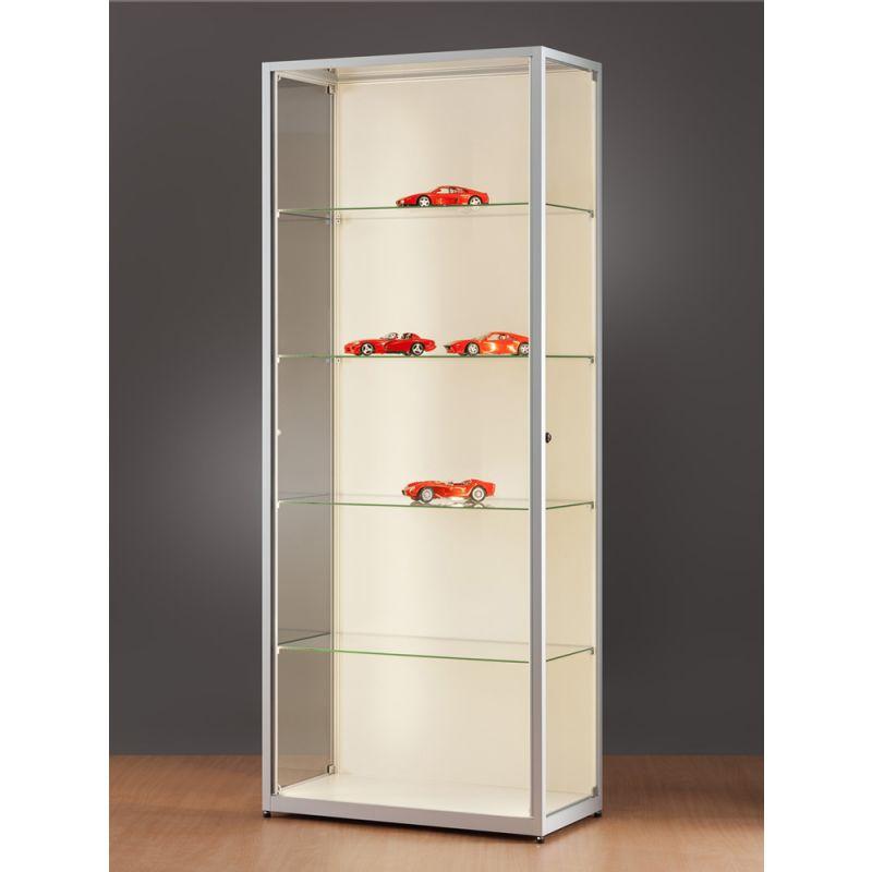vitrine mit led strips 80 cm breit abschlie bar glasvitrinen alu vitrinen g nstig. Black Bedroom Furniture Sets. Home Design Ideas