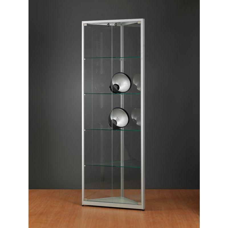 eckvitrine abschlie bar glasvitrinen alu vitrinen g nstig. Black Bedroom Furniture Sets. Home Design Ideas