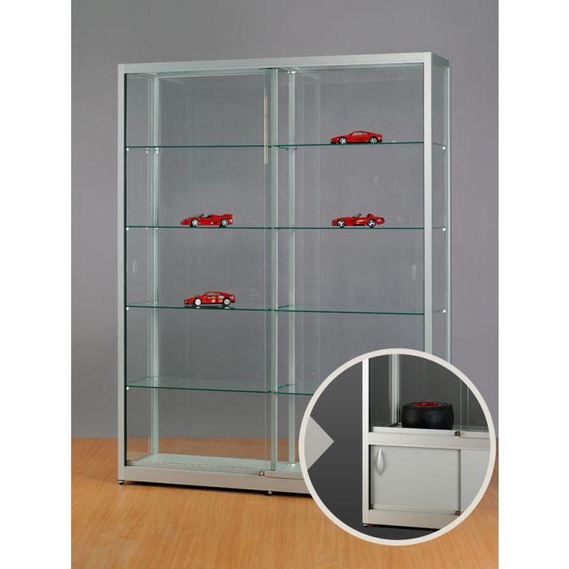 breite standvitrine mit unterschrank glasvitrinen alu vitrinen g nstig. Black Bedroom Furniture Sets. Home Design Ideas