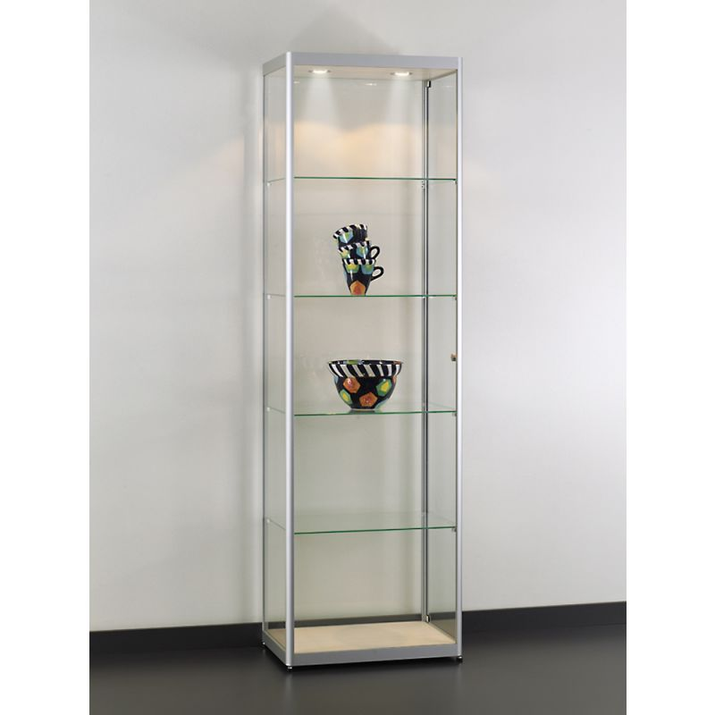 60cm breit simple glasvitrine klassische vitrine aus glas und aus glas mit filigranen alu. Black Bedroom Furniture Sets. Home Design Ideas