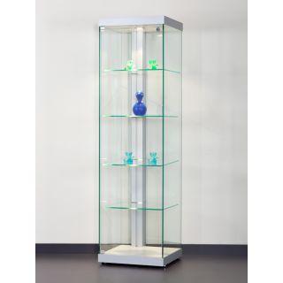 VIA-L500A7 Design Vitrine Glasboden Beleuchtung mit LED und Lichtkanal
