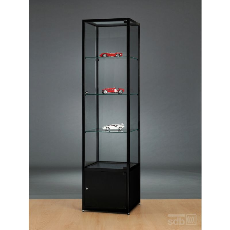 vitrine mit unterschrank schwarz 50 cm breit glasvitrinen alu vitrinen g nstig. Black Bedroom Furniture Sets. Home Design Ideas