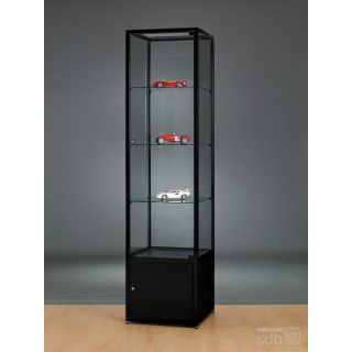 vitrine schwarz abschlie bar glasvitrinen alu vitri. Black Bedroom Furniture Sets. Home Design Ideas