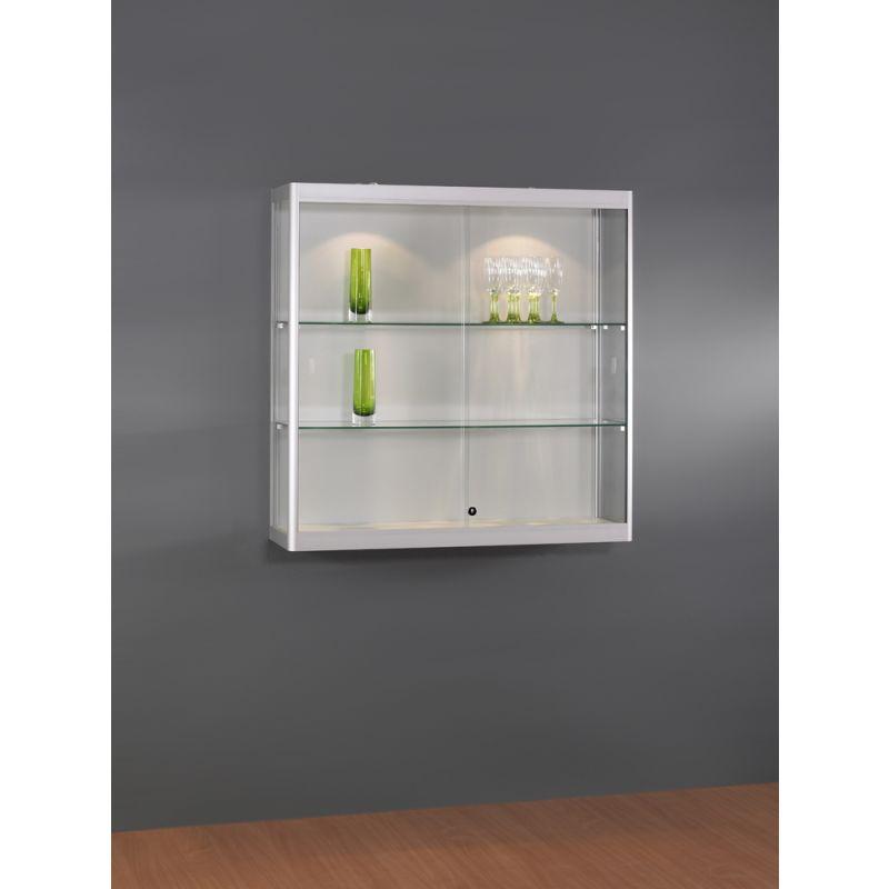 h ngevitrine mit schiebet ren abschlie bar glasvitrinen alu vitrinen g nstig. Black Bedroom Furniture Sets. Home Design Ideas