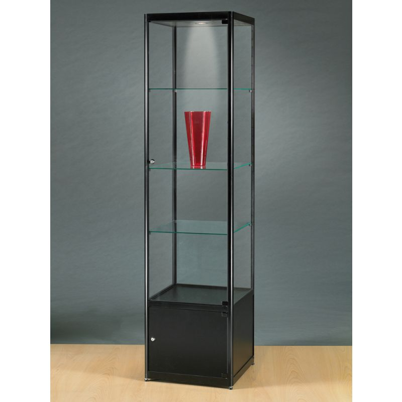 vitrine mit schrank schwarz glasvitrinen alu vitrinen g nstig. Black Bedroom Furniture Sets. Home Design Ideas