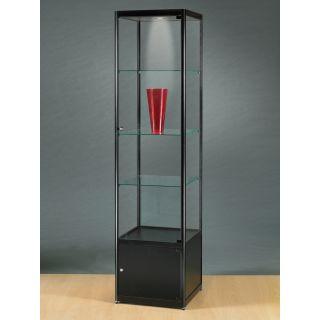 vitrine mit schrank schwarz. Black Bedroom Furniture Sets. Home Design Ideas