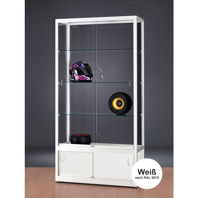 vitrine wei mit unterschrank glasvitrinen alu vitrinen g nstig. Black Bedroom Furniture Sets. Home Design Ideas