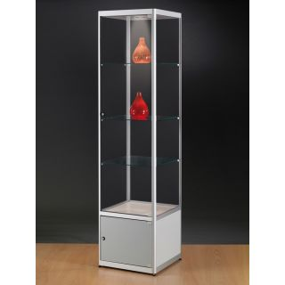 SV500A7LU Vitrinenschrank Glasvitrine Vitrine mit Unterschrank Ausstellungsvitrine Beleuchtung abschließbar