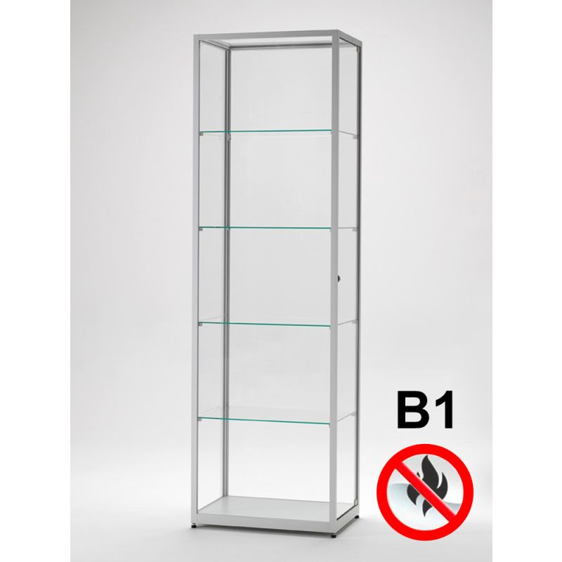 vitrine brandschutzklasse b1 60 cm breit glasvitrinen alu vitrinen g nstig. Black Bedroom Furniture Sets. Home Design Ideas