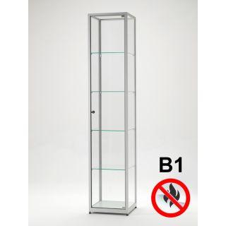 SV400A7B1 Brandschutz Vitrine abschließbar Glas Alu Silber